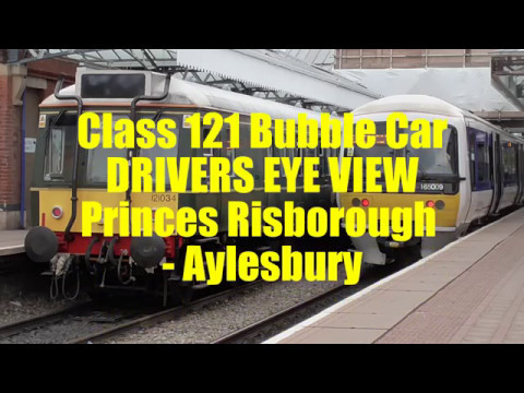 Class 121 Bubble Car DRIVERS EYE VIEW: Princes Risborough - Aylesbury