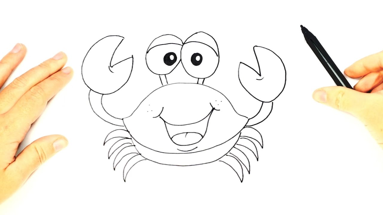 How to draw a Crab for Kids | Crab Easy Draw Tutorial ...  How to draw a C...