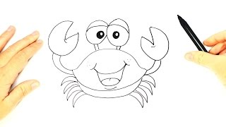 How to draw a Crab for Kids | Crab Easy Draw Tutorial