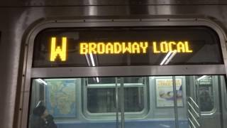 NYC Subway Special: 96th Street-2nd Avenue-bound R160 (W) Entering & Leaving 57th Street-7th Avenue