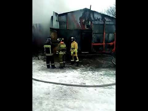 Сгорел автосервис на улице Бакирова