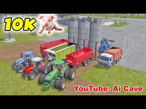 How to make the best food mixture for ten thousand pigs - Farming Simulator 2017 Mods