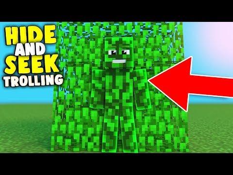 WITZIGER HIDE AND SEEK TROLL ( Minecraft Trolling )