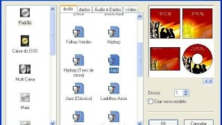 como criar Etiquetas de CD E DVD