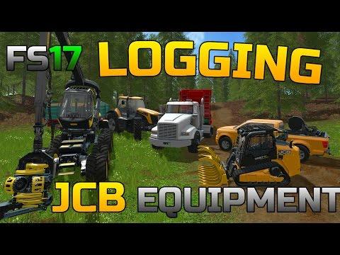 FARMING SIMULATOR 2017 | LOGGING EQUIPMENT | PRODUCING WOOD CHIPS | JCB