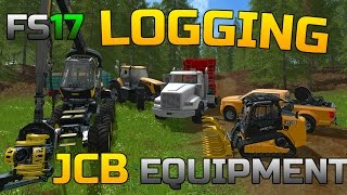 FARMING SIMULATOR 2017 | LOGGING EQUIPMENT | PRODUCING WOOD CHIPS | JCB