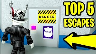 TOP 5 WAYS TO ESCAPE PRISON! (Roblox Mad City) | Mad City vs Jailbreak