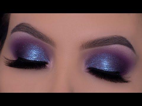 Purple Blue Eye Makeup Tutorial | Evening Eye Makeup thumbnail