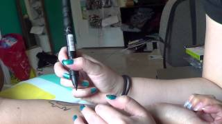 ASMR Drawing on my friend's arm, some whispering.