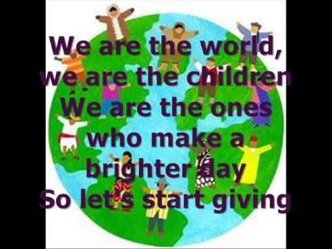 We are the world (Children of the world Project) lyrics