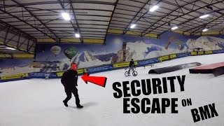 *SECURITY ESCAPE* SNEAKING ON TO A SKI SLOPE!