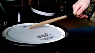 Как играть дробь на барабане обучение