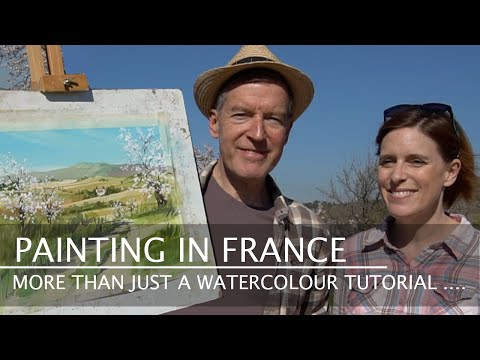 How to paint a watercolour landscape – Painting in France