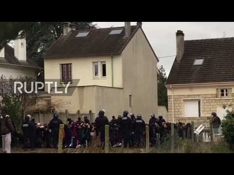 France: Dramatic footage shows mass arrests at high school demo near Paris