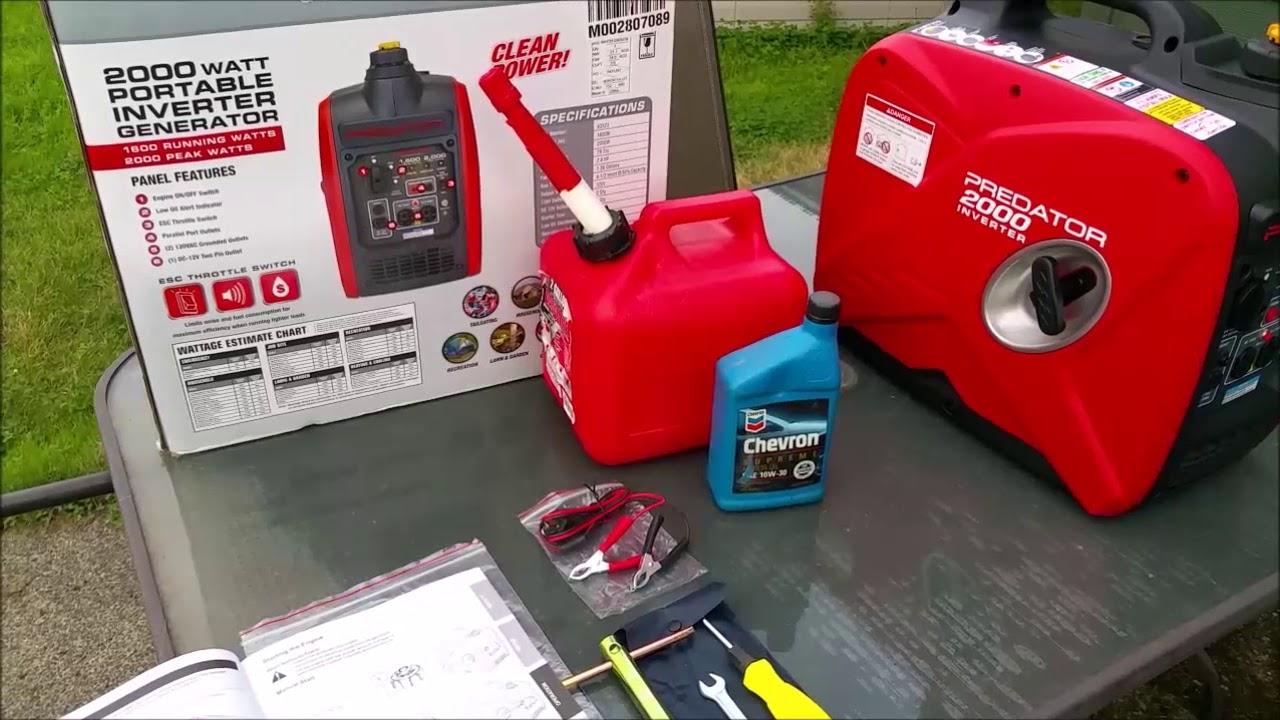 Harbor Freight Predator 2000 Watt Inverter Generator - Unboxing and Setup