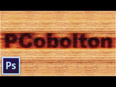 photoshop tutorial text in holz brennen woodburn effekt. Black Bedroom Furniture Sets. Home Design Ideas