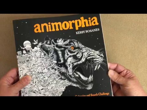 Animorphia An Extreme Coloring And Search Challenge US Vs UK Editions Flip Through
