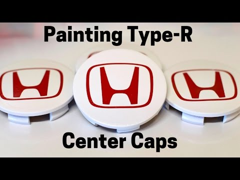 Painting My Type-R Center Caps