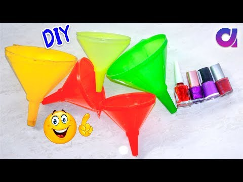 best out of waste crafts idea of funnel (कीप) | DIY Home Decor | Artkala 447