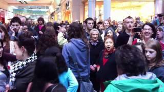Christmas Flash Mob Sings Hallelujah Chorus at Washington Square Mall, Portland Oregon