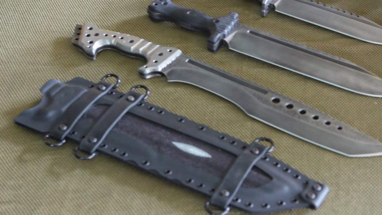 Miller Bros Blades Custom Bowie Jungle Sword Blade Show