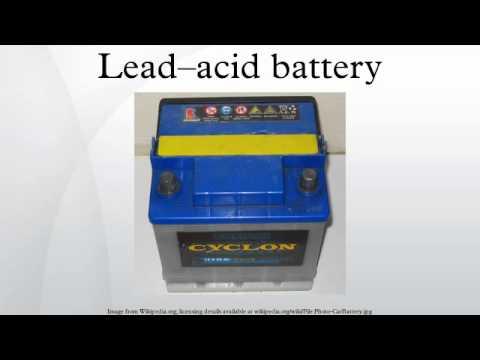 Lead–acid battery