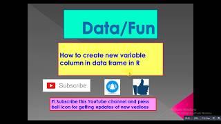 Daten/Spaß: -: - Basic-R Programing_How zum erstellen einer neuen variable Spalte in der Daten-frame