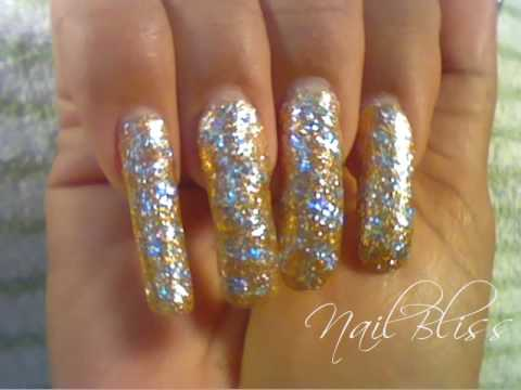 Gold silver glitter tiger print nail art youtube gold silver glitter tiger print nail art prinsesfo Images