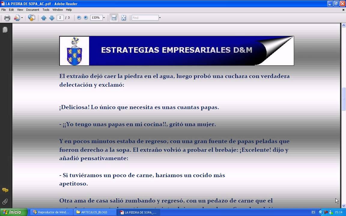 NARRACIÓN DE LA HISTORIA DE PIEDRA DE SOPA (LIDERAZGO) - YouTube