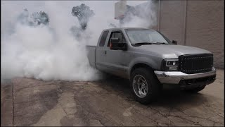 MILLION MILE Work Truck Burnouts!!! SHES FINALLY TUNED!