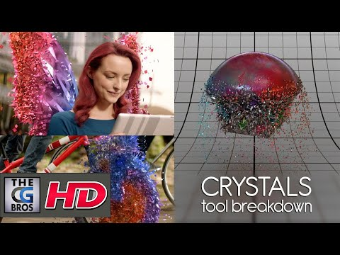 "CGI & VFX Breakdowns : ""Sky Crystals Tool v02 Breakdown"" - by Giulio Tonini"