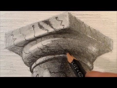 Drawing a Doric Column Time Lapse  YouTube