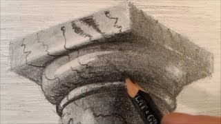 Drawing a Doric Column, Time Lapse