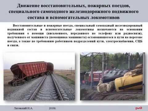 ИДП. Движение восстановительных, пожарных поездов.