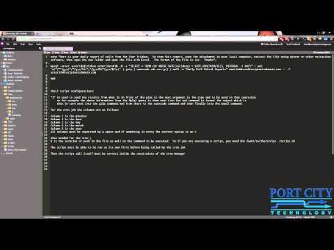 Email CDR Asterisk  - Trixbox Script