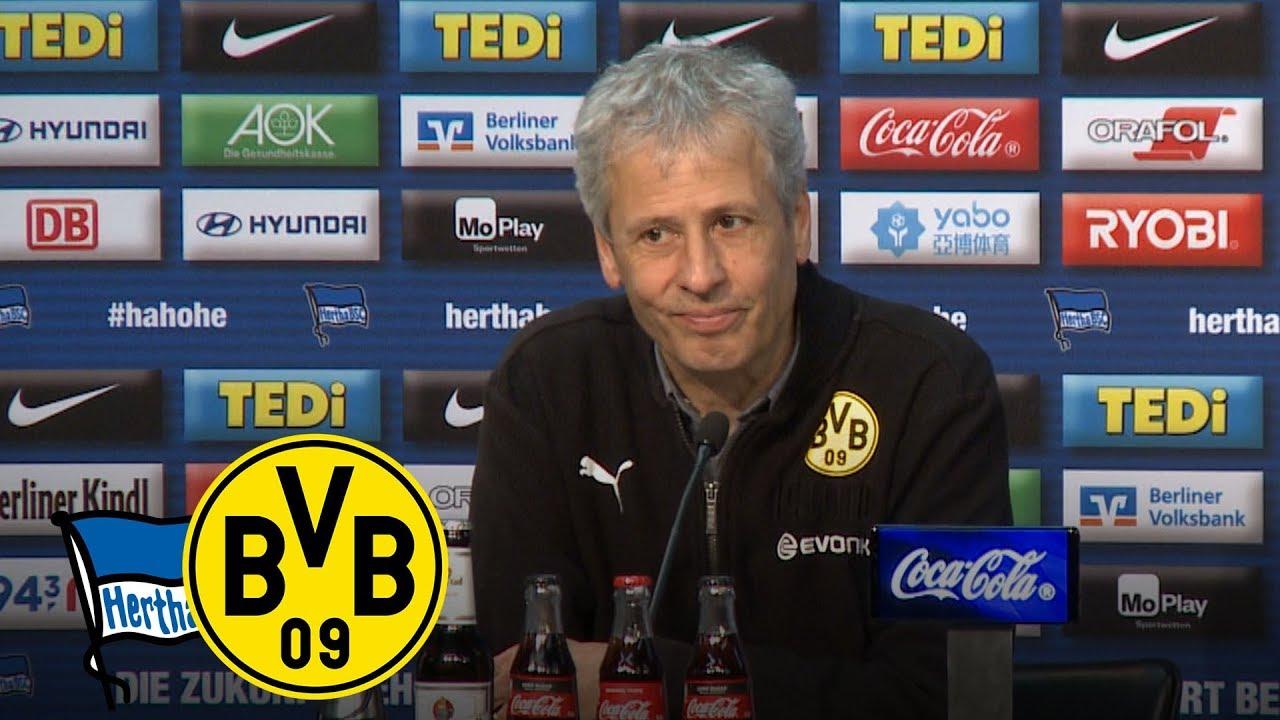 Furioser Last-Minute-Sieg!   PK mit Lucien Favre   Hertha BSC - BVB 2:3