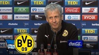 Furioser Last-Minute-Sieg! | PK mit Lucien Favre | Hertha BSC - BVB 2:3