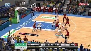 PBA 2K17 | San Miguel vs Barangay Ginebra | Game 1 | 1st Qtr | February 24, 2017