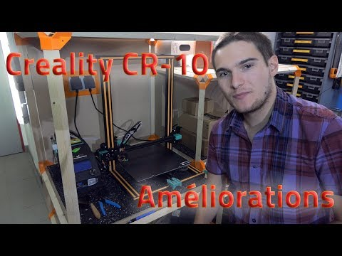 CREALITY CR-10 : AMELIORATIONS DE BASE (SILENCE, ISOLATION PLATEAU, ACCROCHE...)