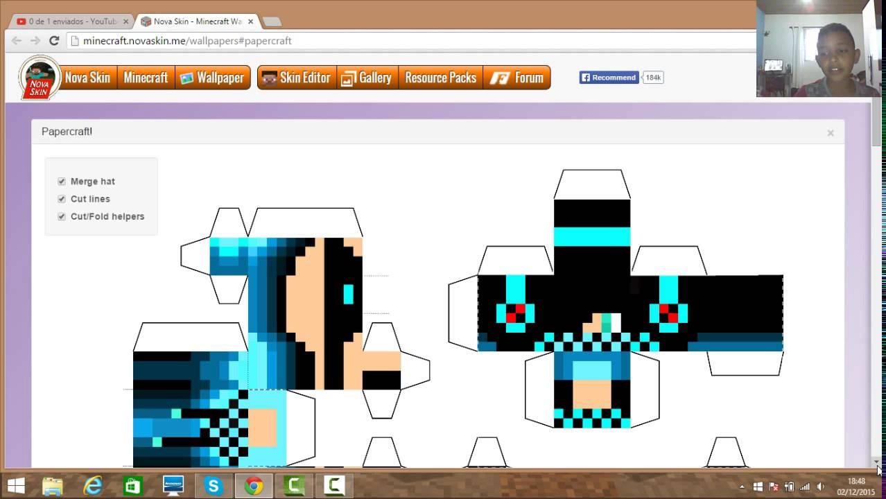 Minecraft Paper Craft My Skin