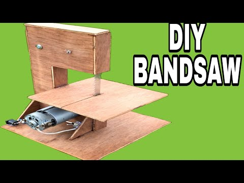 how to make a mini bandsaw at home
