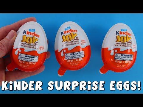 Kinder Joy   Opening surprise toy eggs   DCTC Amy Jo