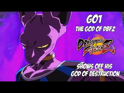 GO1, The God of DBFZ, Shows off his God of Destruction, Beerus![DBFZ]