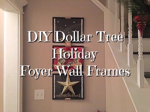 Diy Dollar Tree Holiday Foyer Wall Framed Art Youtube