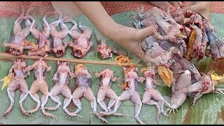 Amazing!! Beautiful Girl Cooking Frog in my Village - How to Cook Frog in Cambodia
