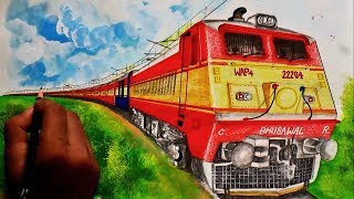 Yesvantpur - Barmer AC Express Sketching // Enjoy the generator car humming as background music