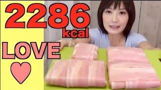 【高カロリー】ベーコン巻きホットチーズサンド【木下ゆうか】bacon Cheese Hot Sandwich | Japanese Girl Did Big Eater