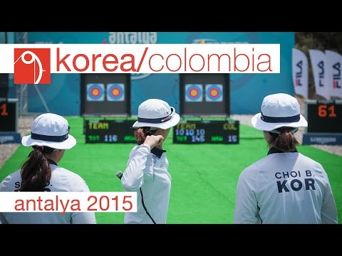 Korea v Colombia – Compound Women's Team Gold Final | Antalya 2015