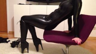 Repeat youtube video Mask, Catsuit, Ballet Boots & Corset