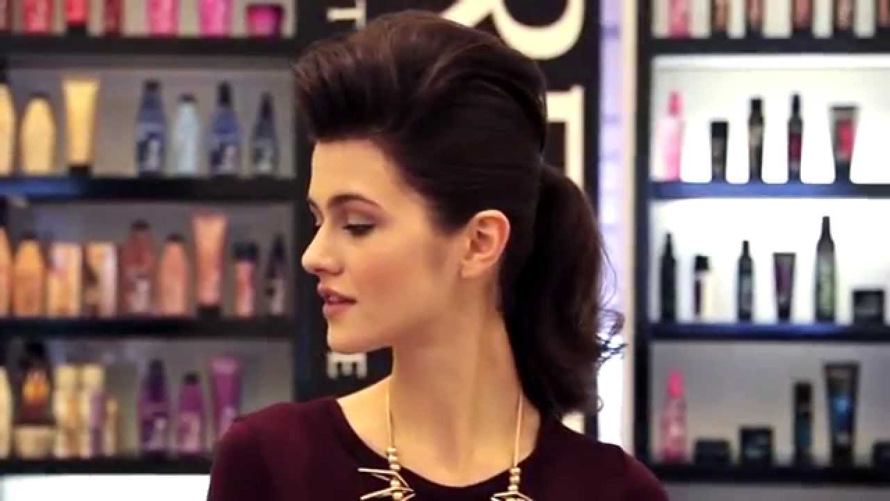 how to get: rock star high ponytail with redken